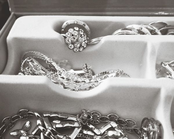 EyeEm Selects Jewelry Jewellery Jewels Jewelry Box EyeEmNewHere Close-up Silver Ring Silver Rings Large Group Of Objects Blackandwhite Blackandwhite Photography Monochrome Photography Jewelry Photography Silver - Metal Silveraccessories Silver Jewelery Black And White Friday