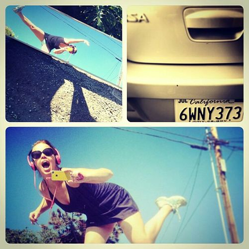 Me last autumn on vacation in the States IPhoneography Selfportrait Streetphotography Thats Me  Check This OutHoliday POV Eye4photography  Dancing Dance Enjoying Life California Dreaming That's Me! Self Portrait Dancing Girl Car