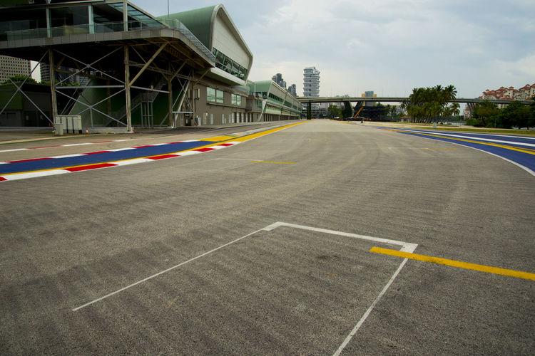 Race Course Pavement Singapore City F1 Formula 1 Race Track