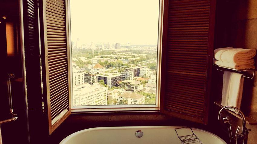 Bangkok Bath City Cityscape Window Skyscraper Home Interior Architecture