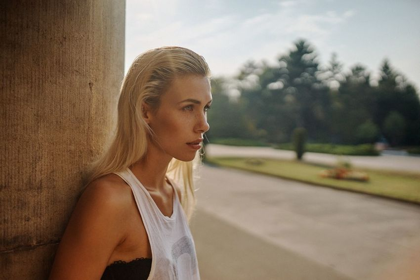 The other day before sunset ... Portrait Lifestyle Photography Sunset 35mm Girl