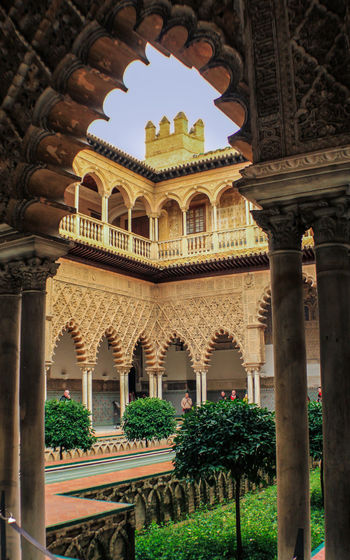 Ancient Arabesque Arabic Arabic Style Arch Architectural Column Architecture Built Structure Check This Out Cultures Day EyeEm Gallery Framed History Outdoors Reales Alcazares De Sevilla Realesalcazares Sky Tourism Travel Travel Destinations