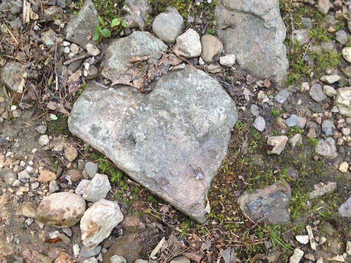 Pebbles on rocks