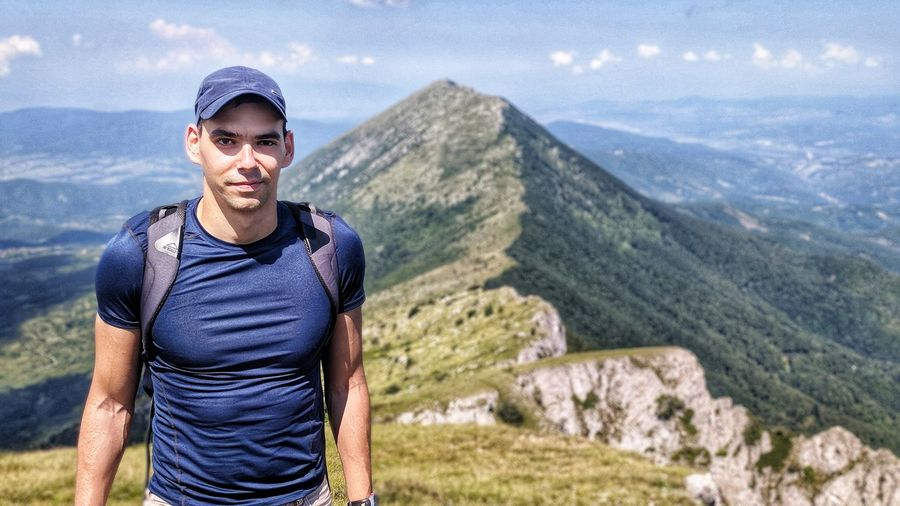 Hiking on Suva Planina, Serbia Mountain Men Portrait Looking At Camera Standing Adventure Males  Beautiful People Sky Mountain Range Hiker Mountain Climbing Hiking Backpack Rocky Mountains Cliff Climbing Equipment Hiking Pole Geology Clambering Climbing Rock Climbing Free Climbing Mountain Peak Countryside The Modern Professional