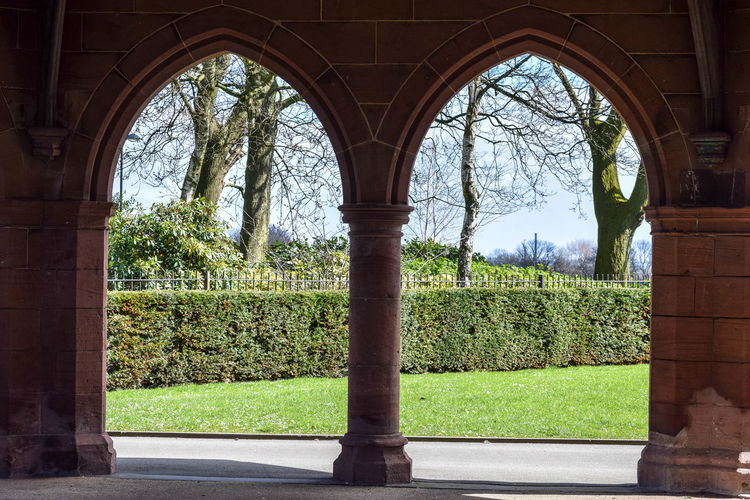 Arches Architecture Gothic Arch Hedges Light And Shade Light And Shadow Park Park Buildings Sandstone