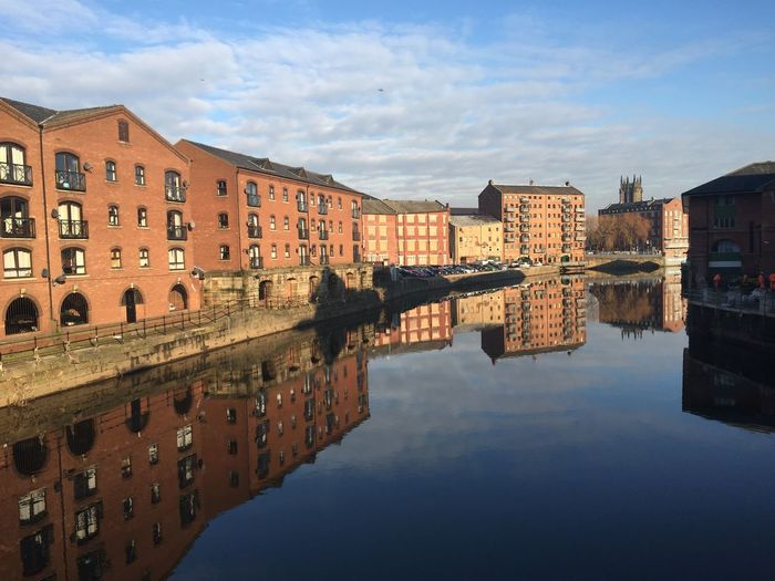 EyeEm Selects Architecture Sky Built Structure Building Exterior History Reflection Water Cloud - Sky Waterfront Leeds Bridge No People Outdoors Day