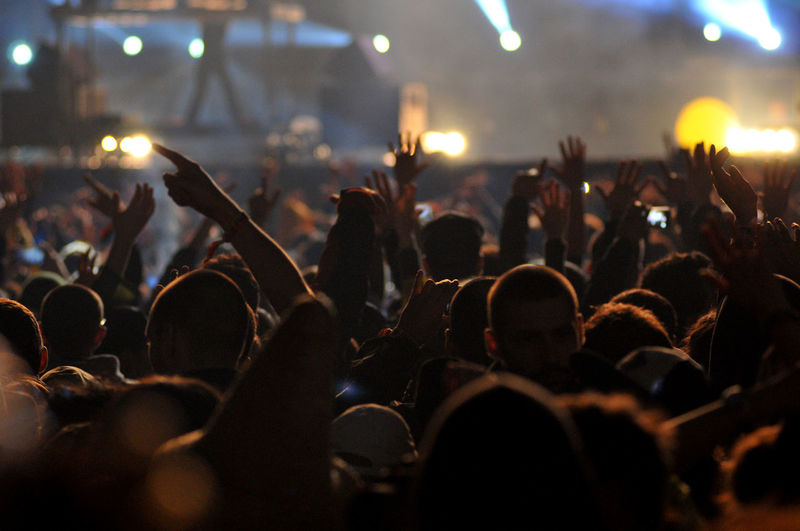 Crowd at music concert