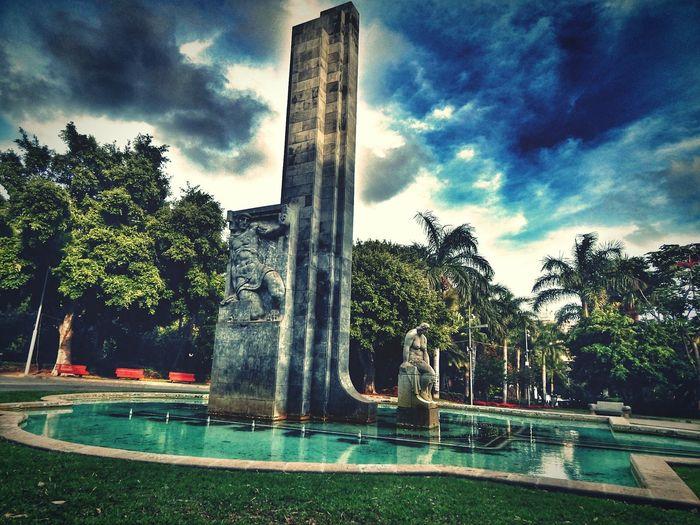 Santa Cruz Tenerife Canary Islands Monument Hdr Edit Colorful City Monuments Memorial Obelisk Garcia Sanabria