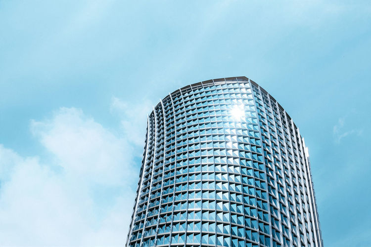 Sky Architecture Low Angle View Built Structure Modern Cloud - Sky Building Exterior Building Nature City Steel No People Office Building Exterior Reflection Blue Tall - High Metal Day Alloy Outdoors Silver Colored Skyscraper Bright Nightlife The Architect - 2019 EyeEm Awards