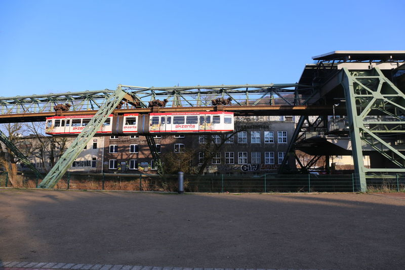 Schwebebahn in Wuppertal 2016 Schwebebahn Wuppertal Schwebebahn In Wuppertal Schwebebahnbrücke Schwebebahnstation Schwebebahnstrecke Wuppertal Wuppertal Elberfeld Wuppertaler Schwebebahn Architecture Blue Building Exterior Built Structure City Clear Sky Day Industry Nature No People Outdoors Schwebebahn Schwebebahnwaggon Sky Transportation Wuppertal In The Morning Wuppertal Suspension Railway