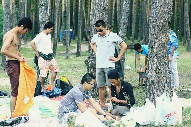At summer...
