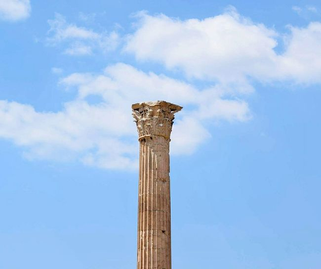 Athens.Greece Architectural Column Cloud - Sky Low Angle View Sky Architecture Old-fashioned EyeEm Gallery Coloum Greece 3XSPUnity EyeEmNewHere Athens Photography EyeEm Best Shots Archaeology Old Ruin The Past Ancient Civilization Travel Destinations Hellas Ancient Ancient History Detailphotography EyeEm Selects Breathing Space The Week On EyeEm Your Ticket To Europe