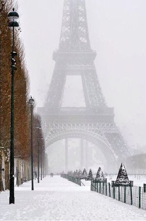 Cityscapes IPhoneography Enjoying Life Beautiful Eye4photography  Love France Tour Eiffel Snow Winter
