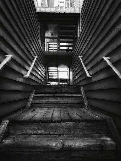 EyeEm Selects EyeEm Best Shots Eye4photography  Lines And Angles Blackandwhite Black And White Steps And Staircases Steps Staircase Architecture Built Structure Stairway Railing Architectural Design Stairs Architecture And Art LINE Hand Rail Building
