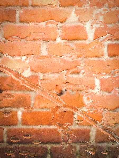 Distorted brickwall in the rain through window Backgrounds Textured  Abstract Architecture No People Built Structure Bricks Brick Wall Brick Walls Distortion Indoors Outdoors Industrial Industrial Building  Rainy Day Summerrain Rain Raindrops
