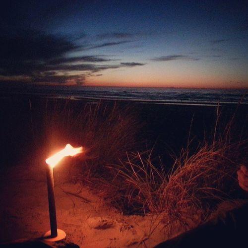 Ameland Strand Sonnenuntergang Gitarre Grolsch Bessen