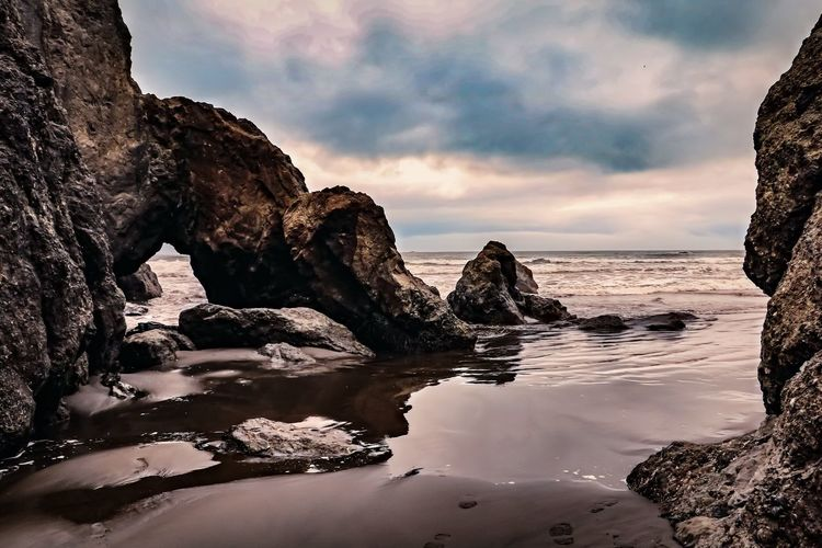 Ruby Beach Olympic National Park Rock Water Rock - Object Beauty In Nature Rock Formation Sea Scenics - Nature Tranquil Scene No People Beach Idyllic Nature Outdoors Tranquility