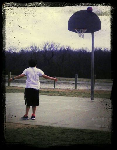 awesome day with the babe playing basketball