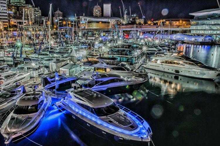 Yachts Moored At Marina Harbor