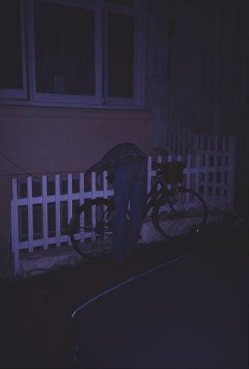 '90 35mm Film Analogue Photography Bike England Night Outdoors Street