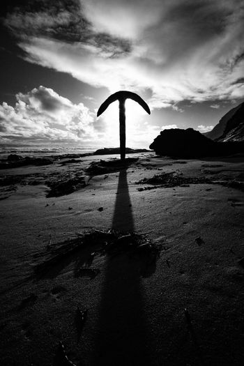 Sky Cloud - Sky Tranquility Water Tranquil Scene Nature Scenics - Nature Silhouette No People Beach Outdoors Land Shadow Day Sunset Sea Non-urban Scene Renebecerril Shipwreck Anchor Australian Landscape Great Ocean Road Australia Blackandwhite Blackandwhitephotography