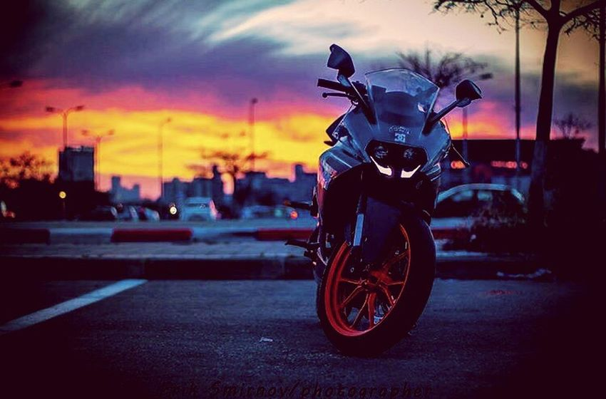 Sunset Nature Sky Transportation Motorcycle Mode Of Transport Travel Riding Road Headwear Land Vehicle Driving One Person Outdoors Biker People Motorcycle Racing