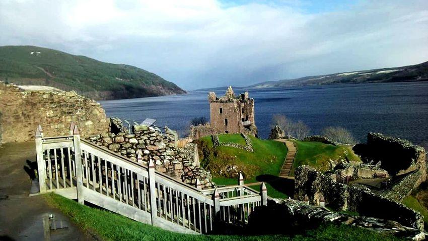 Castle Cloud - Sky Architecture High Angle View Travel Destinations Water Tourism History Famous Place