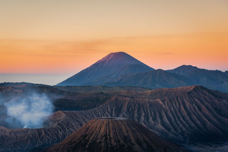 Beauty In Nature Environment Geology Idyllic Land Landscape Mountain Mountain Range Nature No People Non-urban Scene Outdoors Physical Geography Power In Nature Remote Scenics - Nature Sky Sunset Tranquil Scene Tranquility Travel Destinations Volcanic Crater Volcano