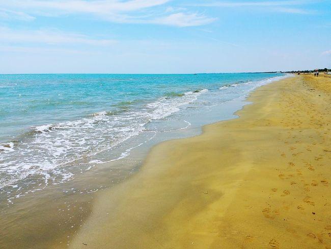 Water Wave Sea Beach Sand Horizon Blue Summer Sunlight Sun