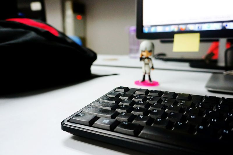 Workplace. Keyboard PC Keyboard Black Keyboard Workstation Workplace Personal Space Personal Work Personal Project Backpack Black Backpack Work Area Day Job  Working Class Eyeem Philippines Eyeem Photography The Week On EyeEm Personal Computer Working Hard Work In Progress Daily Routine Inside The Building Indoor Keyboard Computer Anime Stuff Red