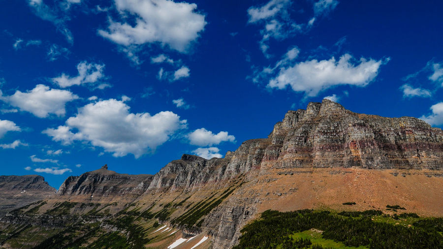 Rocky mountains against sky at glacier national park