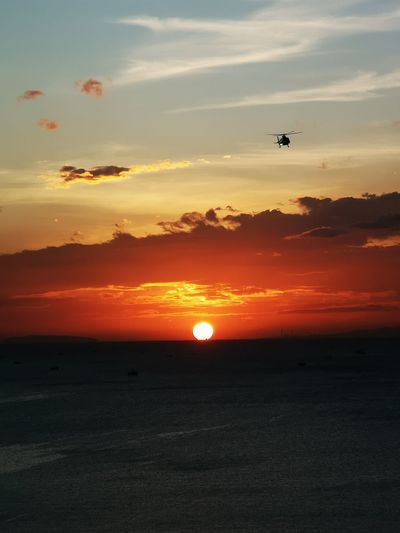 Miss Saigon inspired Sunset Airplane Commercial Airplane Flying Aerospace Industry Sunset Air Vehicle Silhouette Sun Sunlight Journey