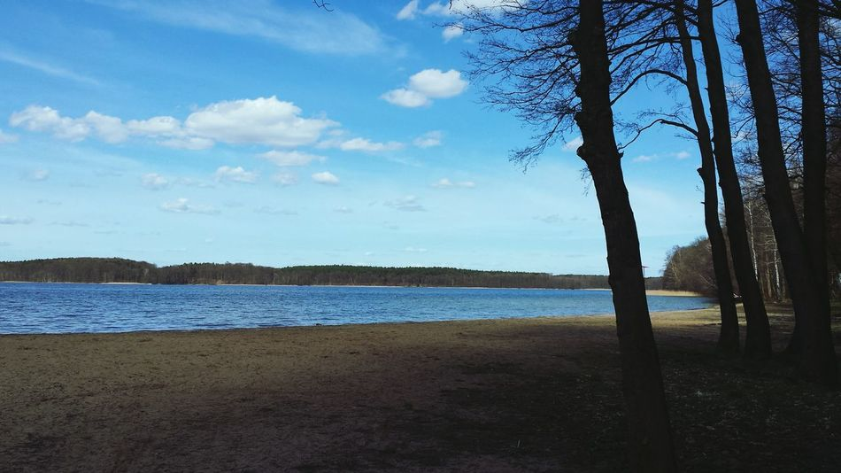 Lake View Lake Niesulice Smartphonephotography Clouds Hugging A Tree Spring Nature Colors Photo Nature