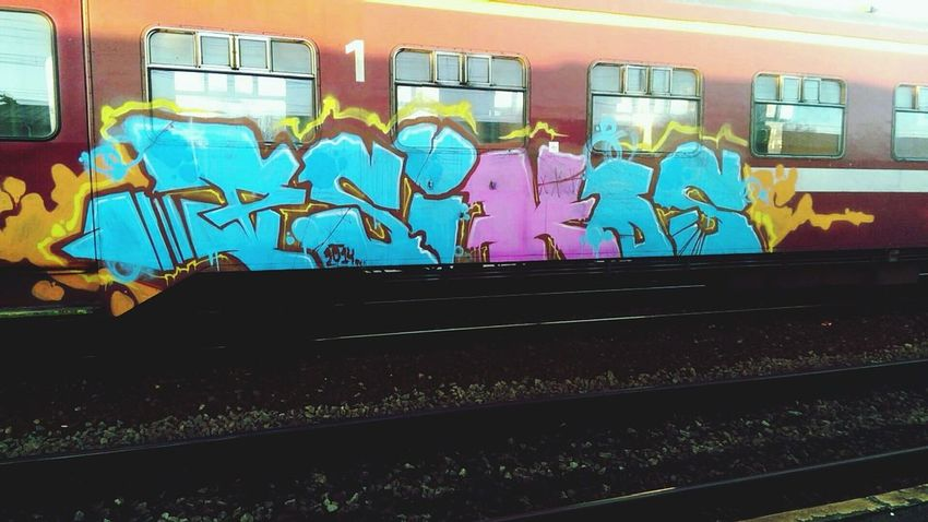 PSK Graffiti Train Graffiti  NMBS
