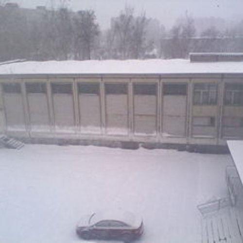 Снежок  выпал и минус