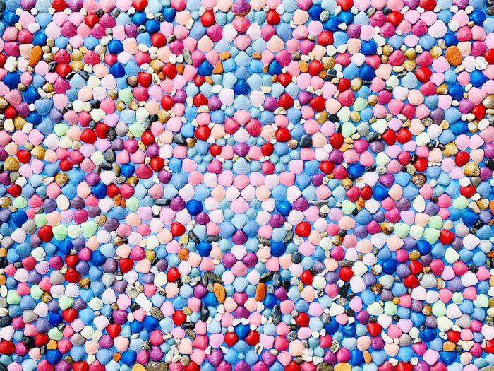 Full frame shot of multi colored pills