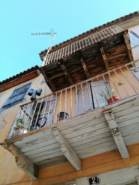 Architecture Building Building Exterior Oldtown Oldcity Old Buildings Retro Balcony Sky Europe Greece Nafplio Architectural Feature Travel Photography