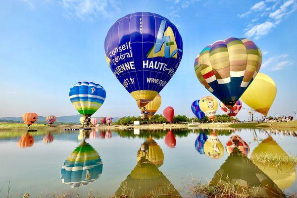 Hot Air Balloon Sky Reflection Ballooning Festival Outdoors Day Adventure Nature No People Chiangrai,Thailand Singhapark Boonrawd Farm