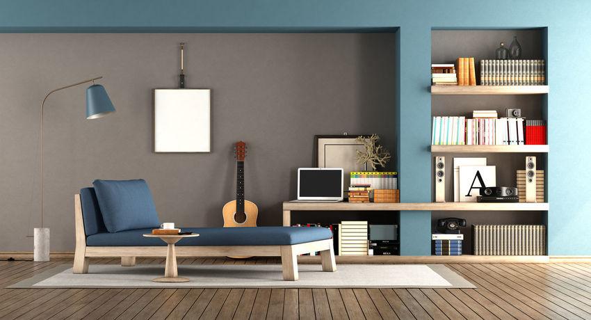 Book Bookshelf Day Bed Domestic Room Furniture Home Interior Indoors  Laptop Living Room Modern Picture Frame Shelf