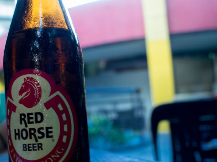 6.9 percent Bottle Drink Alcohol Focus On Foreground Close-up No People Beer Redhorse Olympus EyeEmNewHere OLYMPUS PEN E-P3 Visual Feast