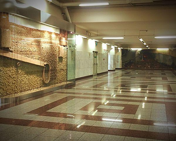 Acropolis Metro Station Archaeological Heaven Neon Lights Untold Stories