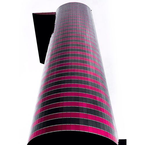 Máxi White Background Low Angle View No People Pattern Decoration Copy Space Clear Sky Multi Colored Textile Building Exterior Nature Modern Office Building Exterior Architecture Studio Shot Built Structure Art And Craft Tall - High Sky Striped