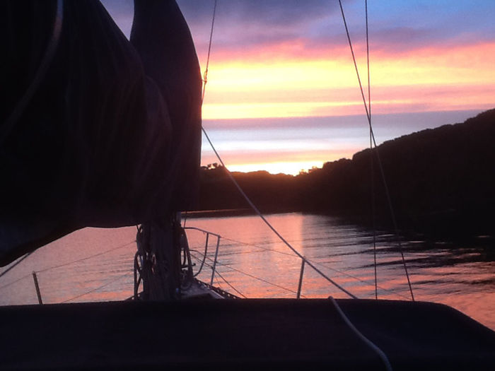 Anchored Idyllic Peaceful Scene Sea Silhouette Sky Sunset Sunset Colours Tranquil Scene Water Water Reflections Water Scene Yacht Yacht At Anchor