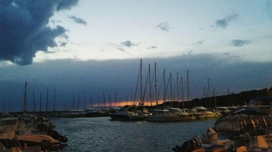 Dieser Hafenbist soo schön!! Wow! Boat Sailboat Cloud - Sky Sky Water Sea Cloud Outdoors Nature Mast Hafen Port