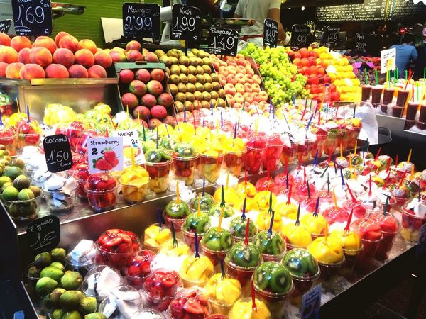 La Boqueria BCN Variation Food And Drink Fruit Abundance Multi Colored Market Vegetable Store Food Food And Drink