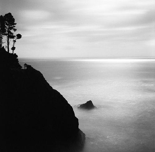 Oregon coast. Hasselblad 500C Kodak Tri-X Beauty In Nature Black And White Coastline Film Is Not Dead Film Photography Hasselblad Horizon Over Water Landscape Long Exposure Monochrome Nature Oregon Oregon Coast Pacific Northwest  Pacific Ocean Scenics Sky The Great Outdoors - 2017 EyeEm Awards Tranquil Scene Tranquility Water
