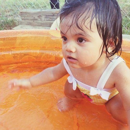 Pool time Kiddiepool SummerBaby Cutebaby Poolbaby
