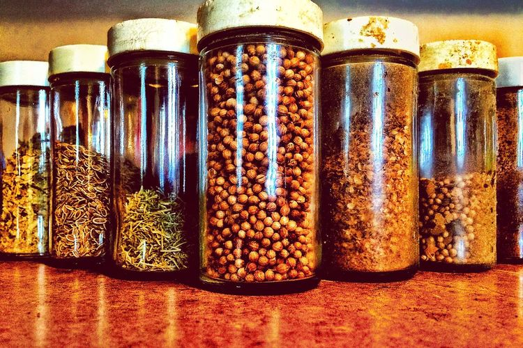 Seasons greetings. Spices Spice Thyme Cumin Mint Seasoning Check This Out First Eyeem Photo Hanging Out Hello World Puns Herbst Cooking Funny Joke Abstractart Art Creativity Creative Food