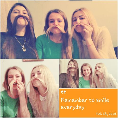 Crazy Friends Pretty Girls ❤ Hang Out Moustache ♥