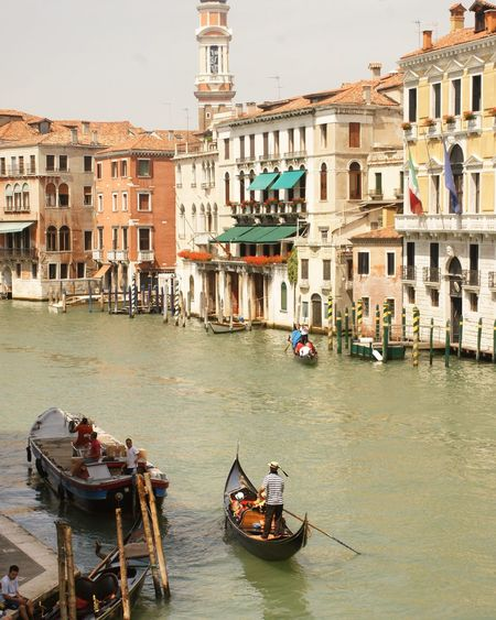 People in boats on grand canal